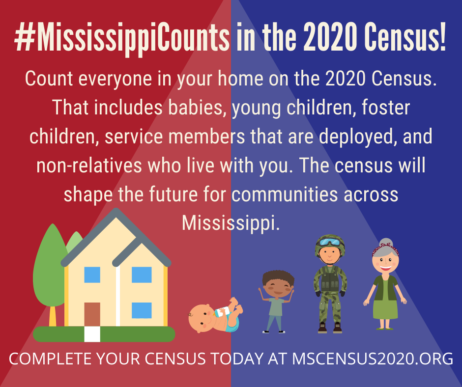 #MississippiCounts in the 2020 Census!